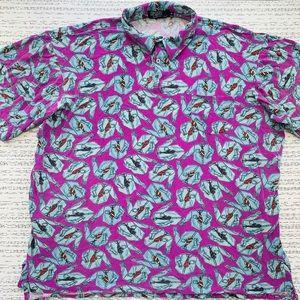 Vintage 90s Polo Ralph Lauren Purple Print Shirt